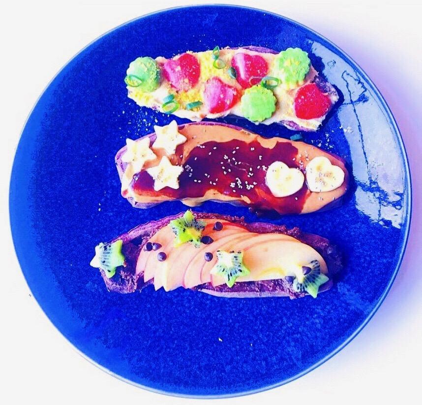 Purple Sweet Potato Toast
